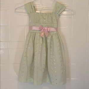 Other - Sage green dress with pink bow